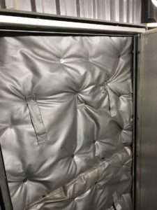 Removable Insulation Cover for Boiler Manhole