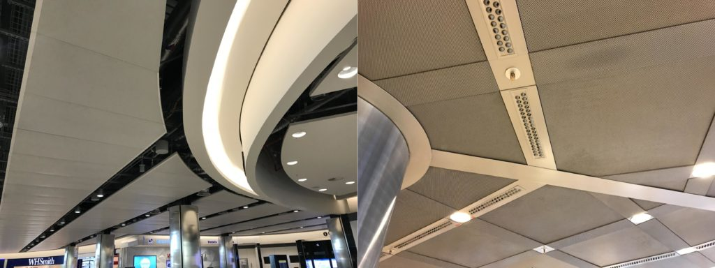 Airport Suspended Acoustic Ceiling - complex shape