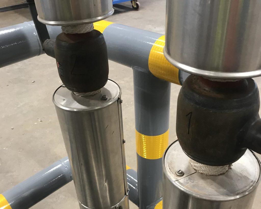 ball valves before installation of valve insulation jackets