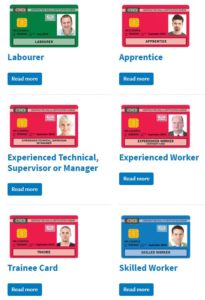 removable and reusable insulation covers - example of CSCS cards