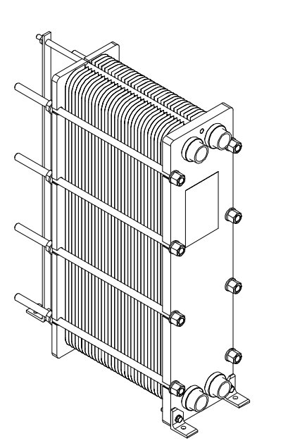 plate-heat-exchanger-drawing
